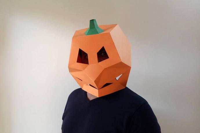 Halloween Mask,Pumpkin mask,Halloween costume,Halloween Makeup,Halloween