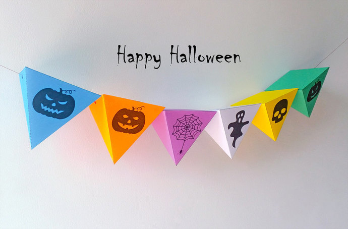 Halloween,Halloween bunting,Halloween Flags,Happy