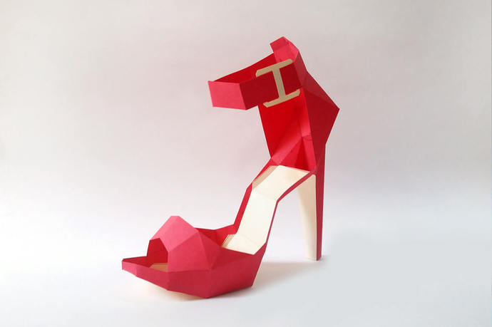 DIY Paper Model High Heel Belly Papercraft Instant Digital Download