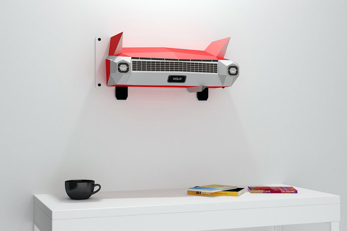 DIY Wall mount - Car back,Printable Car,Paper car,Wall decor,Party props,Car