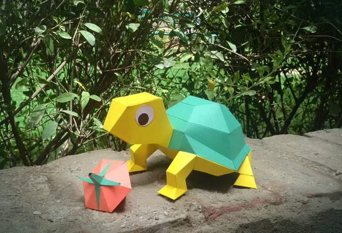 Diy Papercrafts Tortoise Papercraft Kit Diy By Paperamaze On Zibbet