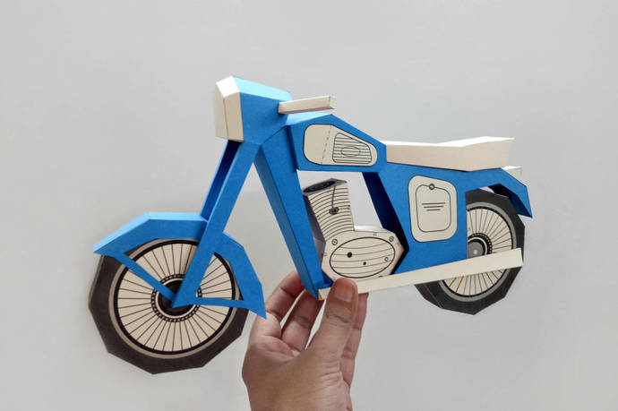 DIY Vintage MotorbikePapercraft3d PapercraftDIY Paper CraftGift For Men