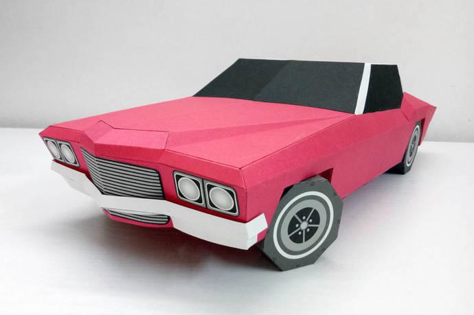 Diy Papercraft Carpaper Car3d By Paperamaze On Zibbet