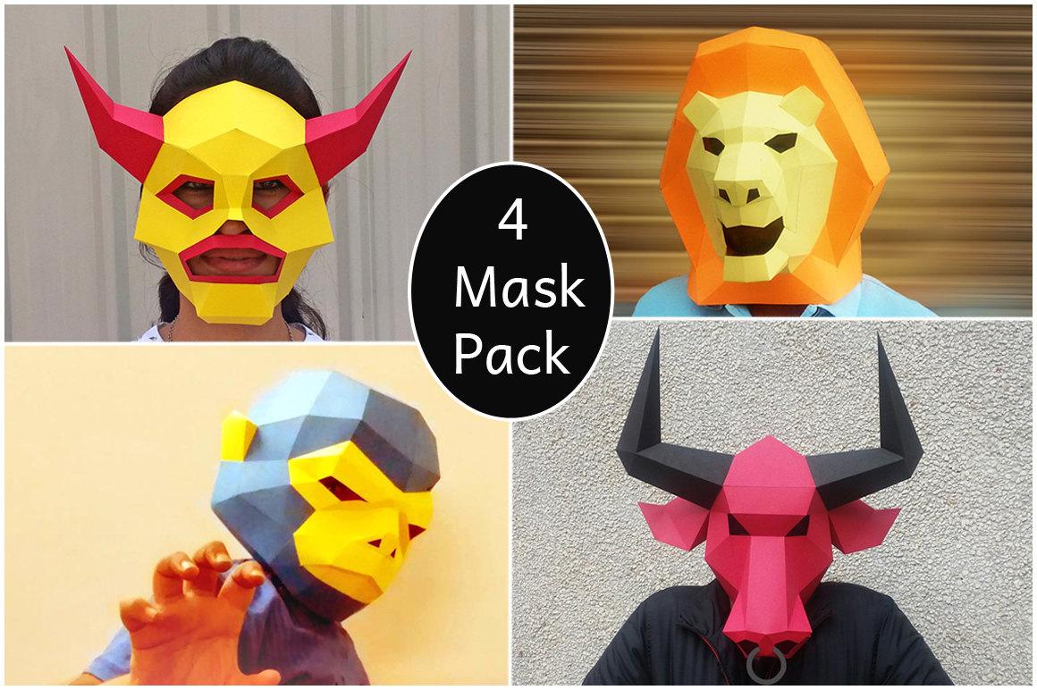 HalloweenDIY MaskParty Mask PapercraftMonkey By Paperamaze On