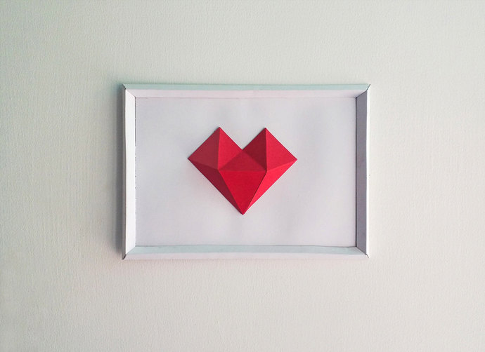DIY Paper Heart Frame, Papercrafts, Paper by Paperamaze on Zibbet