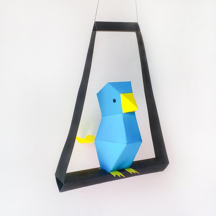 DIY Paper Bird,Papercrafts,Hanging bird,Dangler,Babyshower,Home decor,paper
