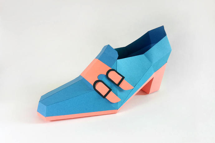 Papercraft,High heels ankle shoe,digital download,Shoe model,DIY kits,Shoe