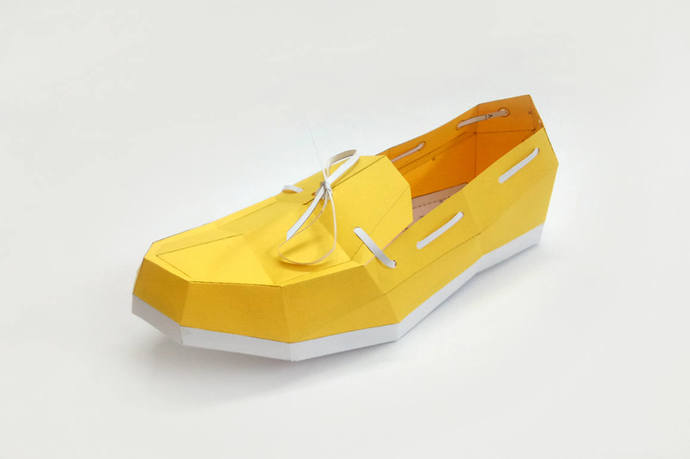 Papercraft,DIY Loafer shoe,3d paper craft,digital download,3d origami