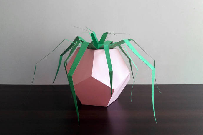 Diy Papercraftpaper Planterpentagon Vase By Paperamaze On Zibbet