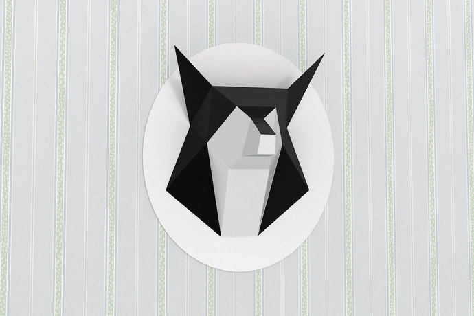 DIY Fox Head - Wall mount Trophy,Paper Fox,Printable fox,3d papercrafts,3d ,Wolf