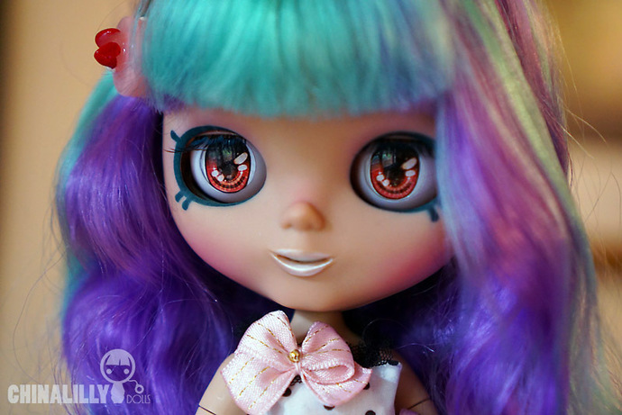Custom Blythe doll - Miss Molly Macaron - by Chinalilly Dolls