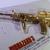 Hong Kong Comic BIOHAZARD 3 Last Escape Promo Assault Rifle Gold Metal Toy -