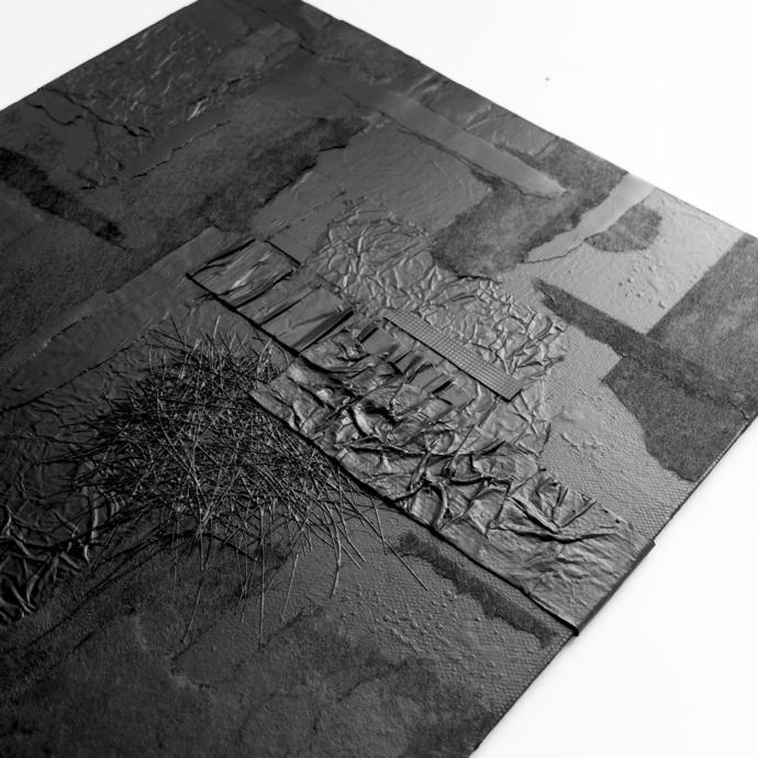 collage, Original Fine Art Abstract, Contemporary Wall Art, Modern Art, black