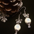 Christmas Holiday Glass Pearl Crystal and Tibetan Silver Victorian Bow Knot