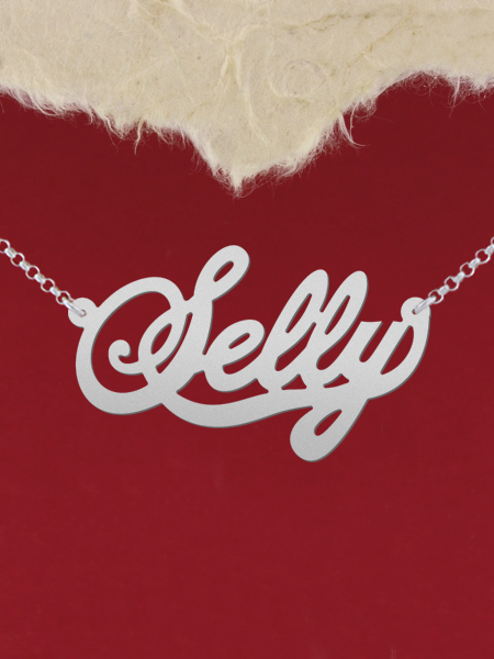925 Silver Name Necklace Selly/Custom Name Jewelry/Personalized ANY NAME Plate