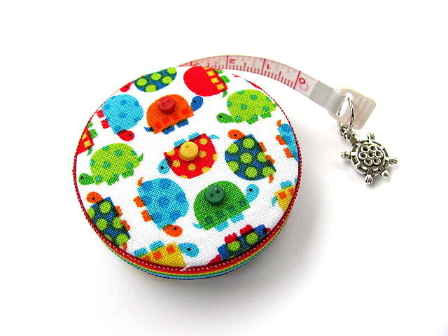 Tape Measure Tiny Rainbow Turtles Retractable Tape Measure