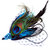 """Fantasy HAIR CLIP Peacock Blue """"Bessie"""" for Dressing up, Party, Prom, Evening"""