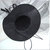 """Mini Witch HAT """"Sable"""" Black Hat with Gathered Black Netting Veil, hand beaded"""