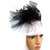 "Fantasy ADORNMENT ""Zoe"" Black Head Band Bow, Netting, Hair Band for Costume,"