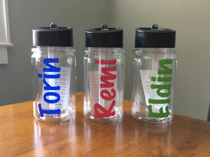 Personalized Kids Water Bottle 10 Oz Double Wall Bpa Free Water Bottle With Name Personalized Water Bottle Personalized Kids Drinkware