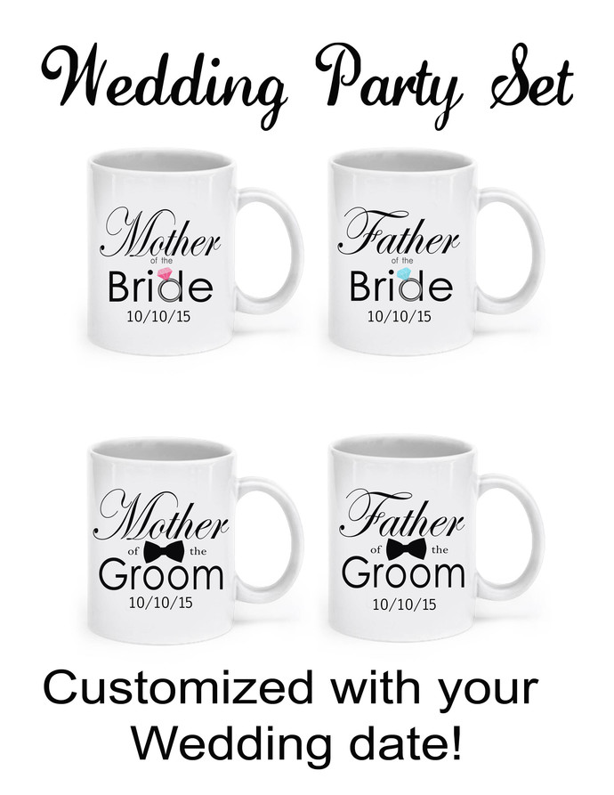 Personalized Wedding Mug, Mother of the Bride, or Father of the Bride, 11 ounce