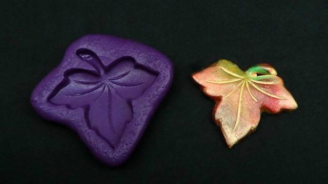 Silicone Flex Mold - 40mm Maple Leaf - for Polymer Clay, Resin, Clay, precious