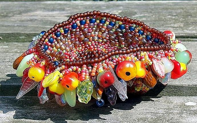 Harvest Basket- handwoven miniature basket