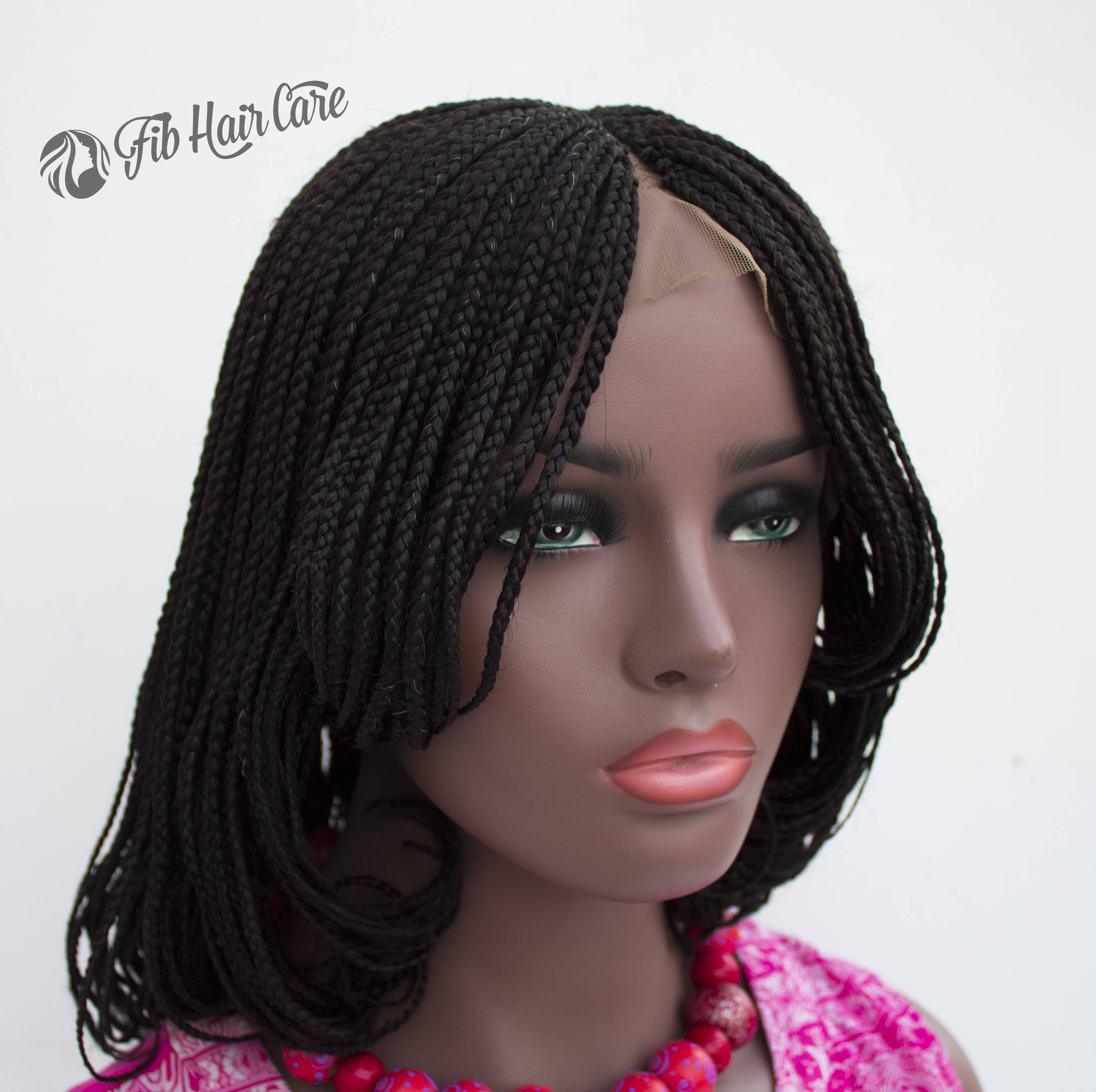 Braided Wig Amanda Bob Lace Front Full By Fib Hair Care
