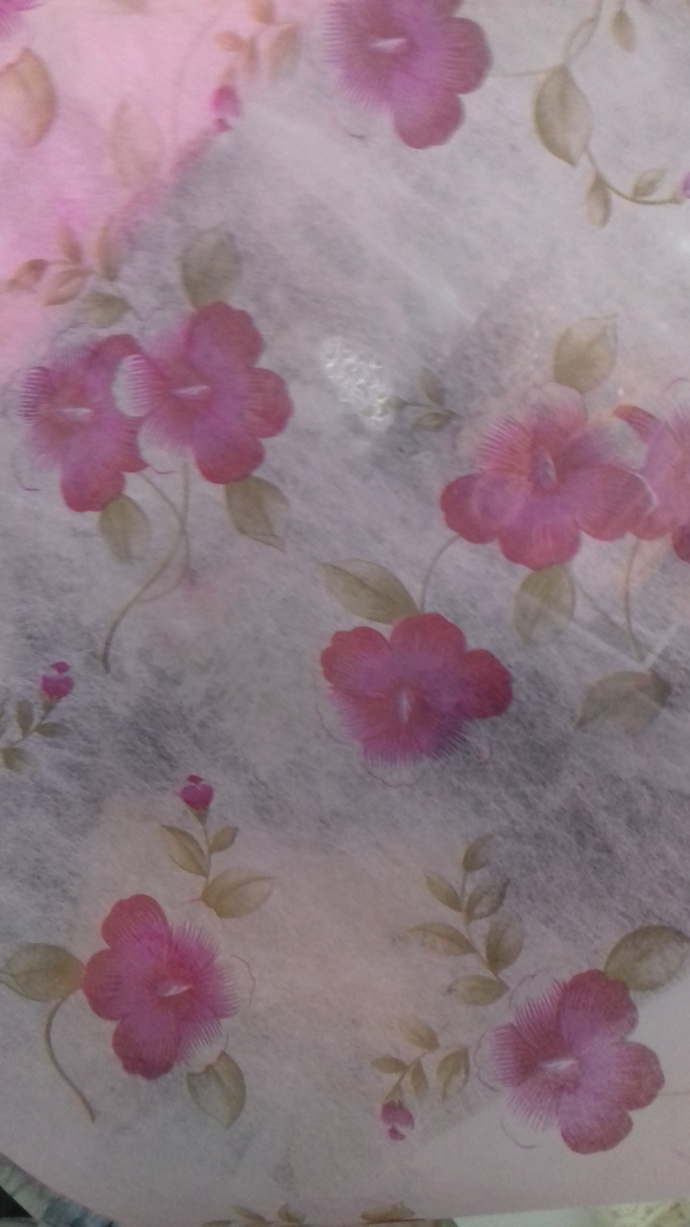 1mt Non-Woven Old English Flower Fabric