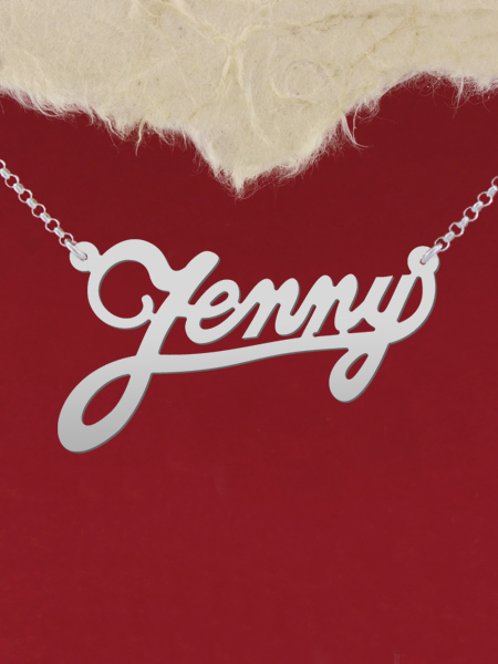 925 Silver Name Necklace Jenny/Custom Name Jewelry/Personalized ANY NAME Plate