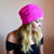 Pink Lace Soft Hat Slouchy Beanie Teens Hats Hat Slouchy Beanie Womens Lace