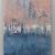 Contemporary Wall Art, Modern Art,peach and sky- blue , cambridge blue, oil