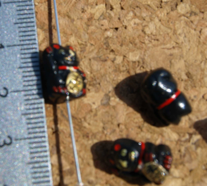 Black Chinese Lucky Cat Beads 10-1311
