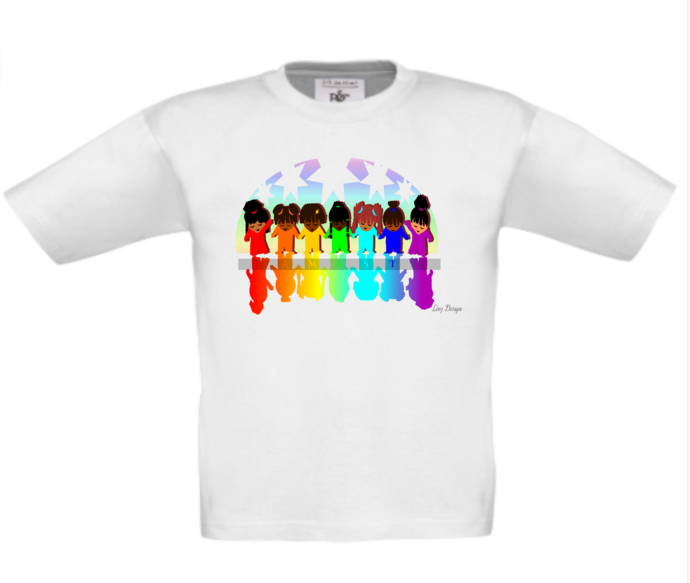 GIRLS NAMASTE STAR T-SHIRT or TOP. These can be PERSONALISED. Designed by The