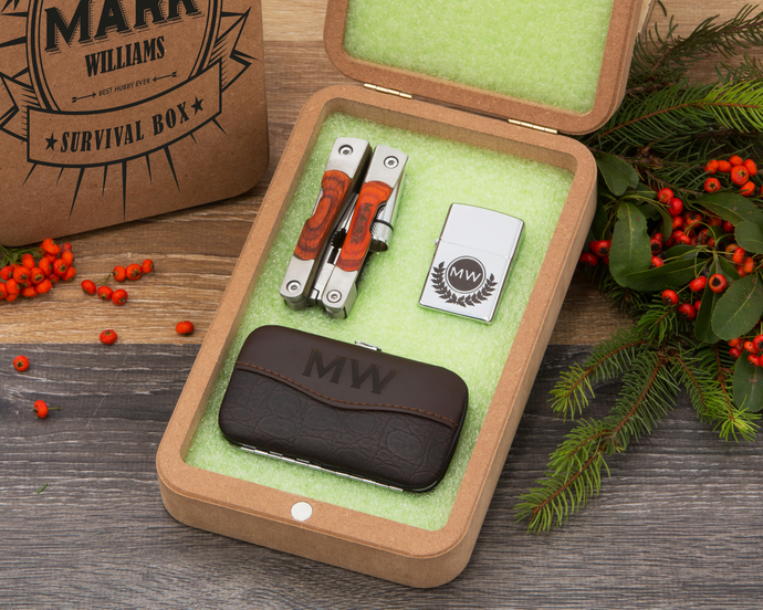 Personalized Box Set, Luxury gift idea, Christmas Gift, Gift for Him, Men Gift,