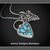Webbed Kingman Turquoise Hand Fabricated Arrowhead Charm Necklace