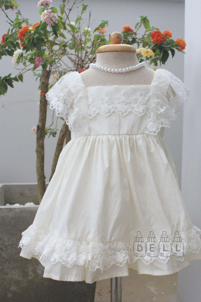 Flower girl dress Ivory flower girl dress Ivory flower girl dress Country flower