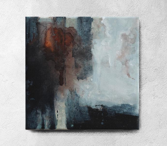 Abstract Wall Art, Original Painting, Modern by SemelArt on Zibbet