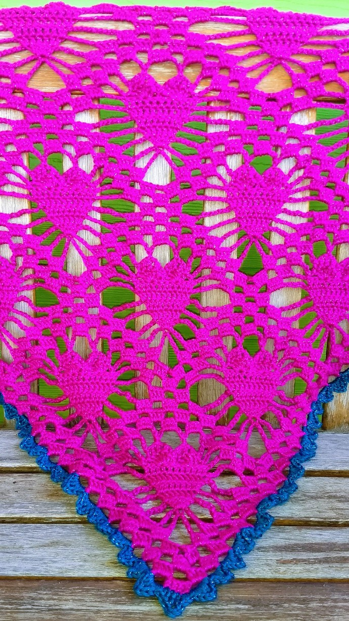 Sparkly Pink Heart Shawl