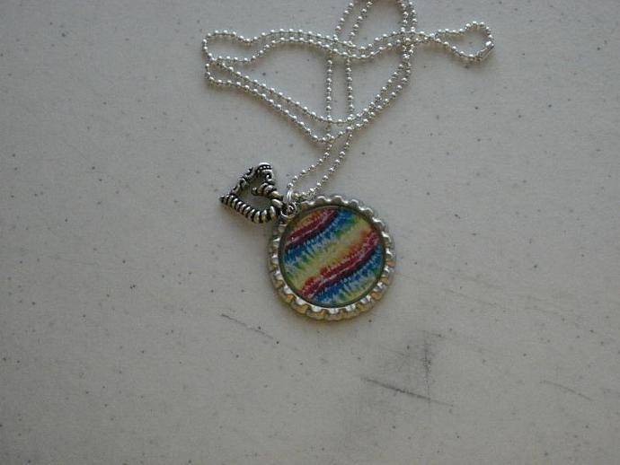 Heart Charm Bottle Cap Necklace