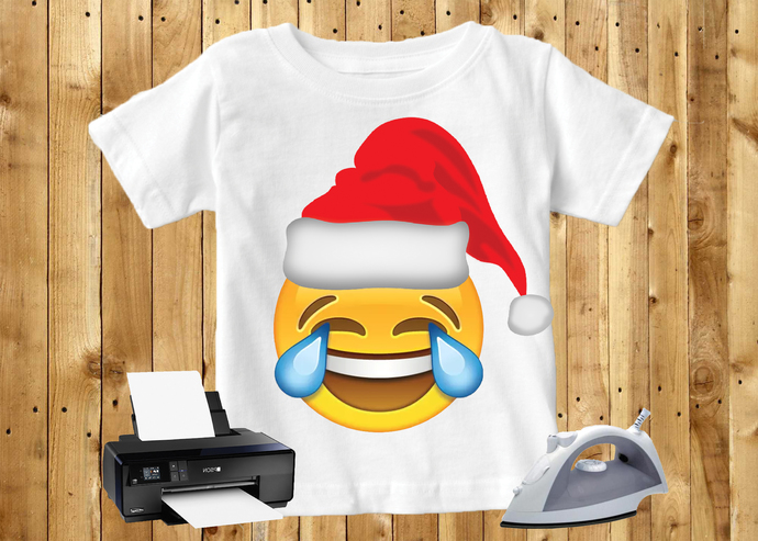 20 Pack Christmas Emoji Iron On Transfer Bundle Digital Art - INSTANT DOWNLOAD