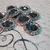 5pcs Rhinestone Buttons - 21 mm Flatback