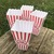 Personalized Reusable Popcorn Plastic Containers Movie Theater Style Red Set 4