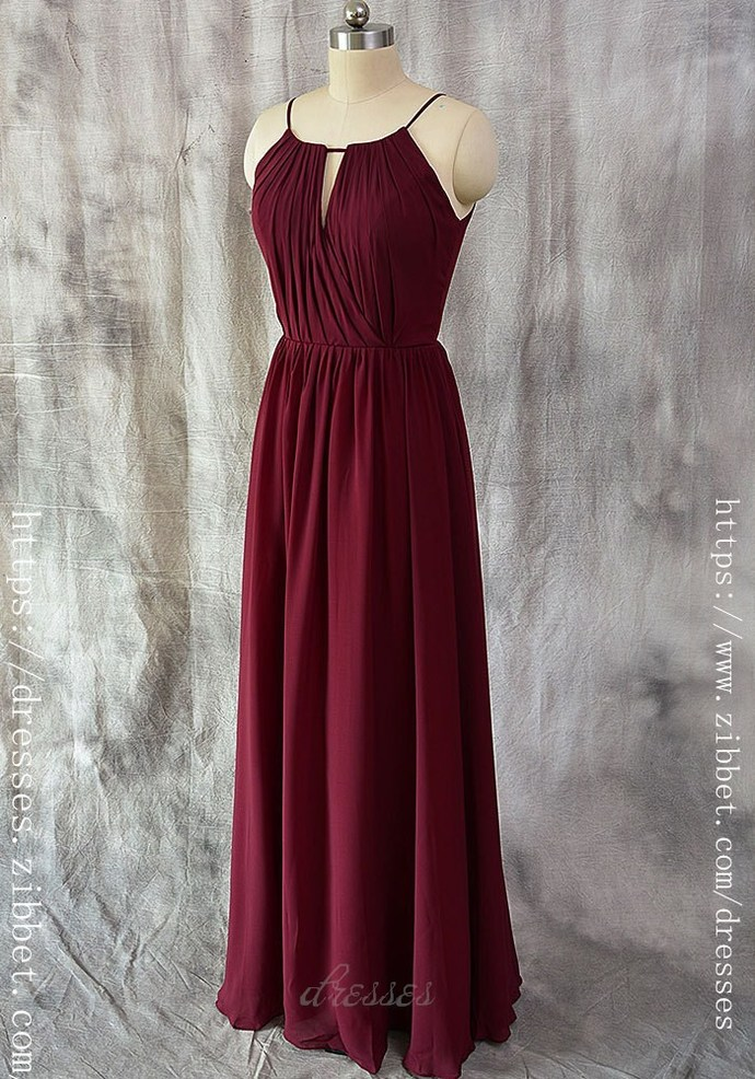 burgundy wedding dresses spaghetti straps burgundy bridesmaid dress a line dresses 2130