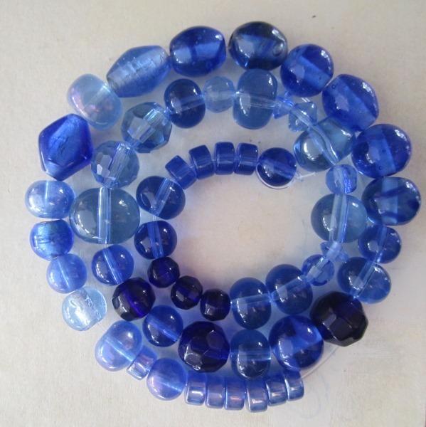 Blue Glass Bead Mix