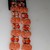 "Brand New Plastic Crackled Beads Orange/Peach/Silver 16"" Total Strand from"