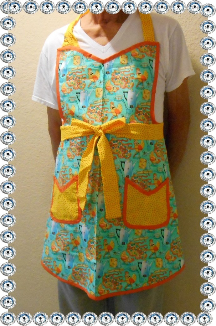 Retro apron, with matching towel and potholder. Can be made to order. Any color
