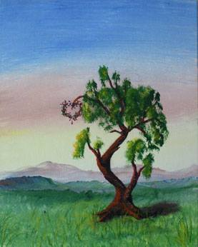 Hold up my heart- original acrylic landscape painting by Dawn Blair - heart