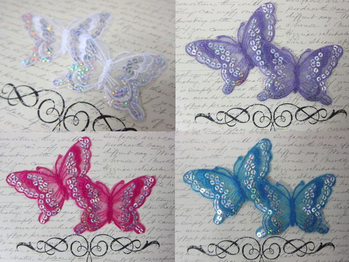 Sequin Embroider Butterfly Applique stl