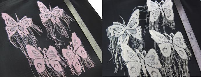 Butterfly Applique - Cream/Pink stl